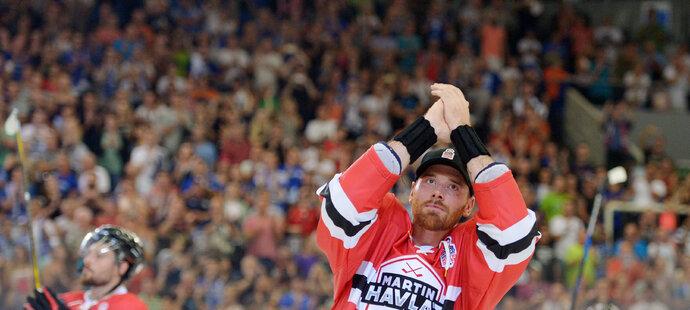 Mistr světa z roku 2000 Martin Havlát ukončil hokejovou exhibicí v Brně svojí bohatou kariéru