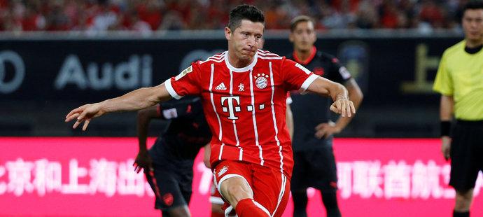 Robert Lewandowski v dresu Bayernu
