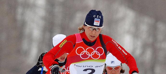 Kateřina Neumannová na volné třicítce na olympiádě v Turíně (2006), kde nakonec získala své slavné zlato