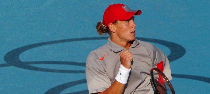 Tomáš Berdych šokoval na olympijských hrách v Aténách Rogera Federera