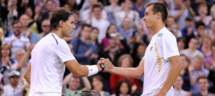 Lukáš Rosol po senzačním vítězství nad Nadalem ve Wimbledonu v roce 2012