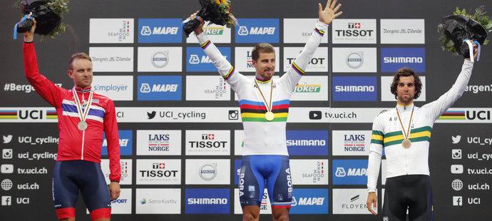 Peter Sagan opět nenašel v silničním závodě s hromadným startem na MS přemožitele