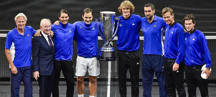Společné foto týmu Evropy
