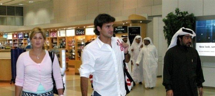 Roger Federer a jeho Mirka