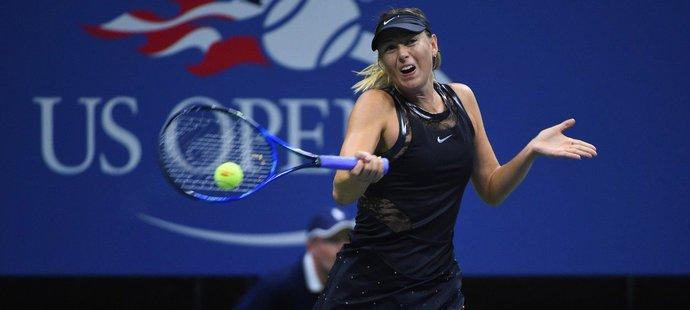 Maria Šarapovová došla na US Open do osmifinále