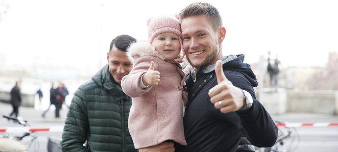 Vaclík s dcerkou Aničkou.