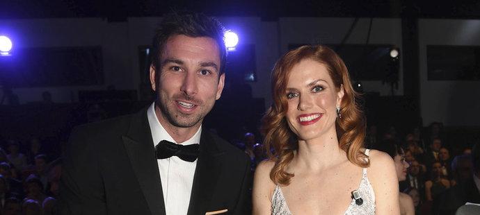 Petr Koukal a Gabriela Koukalová v hledišti při vyhlášení ankety Sportovec roku