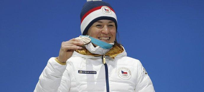 Štastná Veronika Vítková s bronzovou medailí