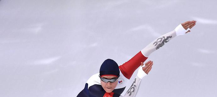 Česká rychlobruslařka Karolína Erbanová skončila v Pchjongčchangu v závodu na 1000 metrů sedmá