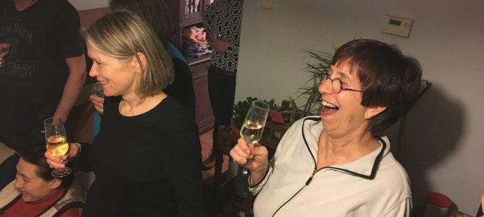 Bronzová radost maminky Evy Samkové, se kterou fandili její nejbližší kamarádi