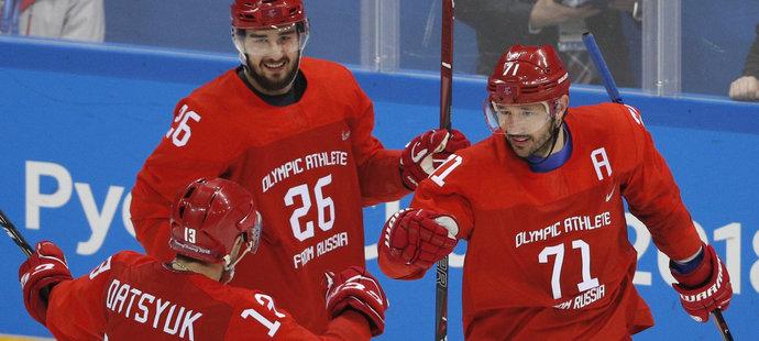 Ruský útočník Ilja Kovalčuk nasázel Američanům dva góly
