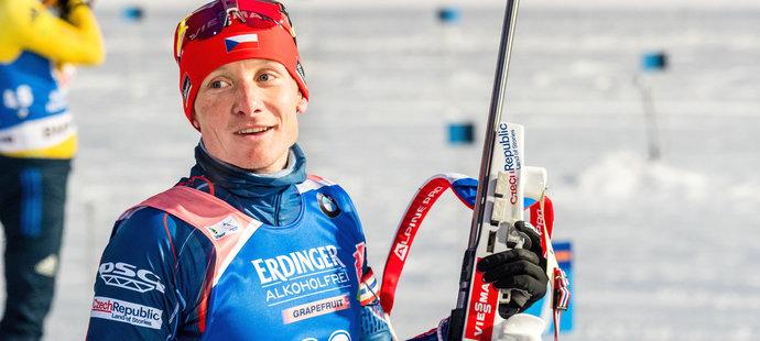 Ondřej Moravec před závody Světového poháru v Kontiolahti