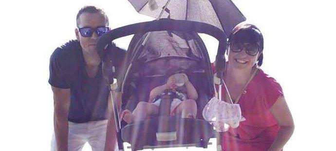 Zesnulý fotbalista Pavel Pergl s přítelkyní Denise a dcerou Zoey