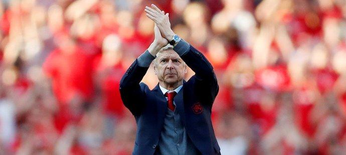 Francouzský stratég Arséne Wenger odkoučoval poslední domácí zápas Arsenalu