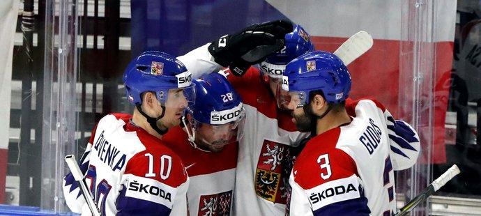 Česká radost z úspěšné gólové akce