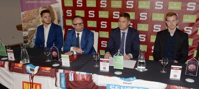 Na tiskové konferenci hokejová Sparta oficiálně představila první dvě posily na novou extraligovou sezonu