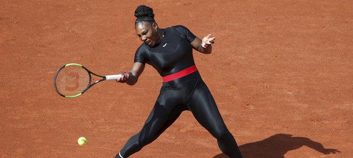 Serena Williamsová během zápasu s Kristýnou Plíškovou