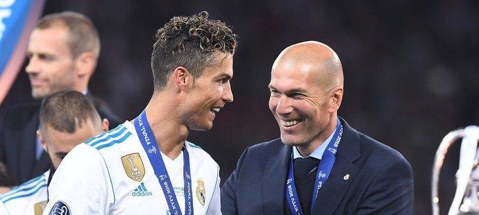 Cristiano Ronaldo měl s trenérem Zidanem v Realu velmi dobrý, až přátelský vztah