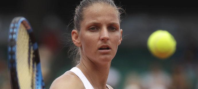 Karolína Plíšková v zápase proti Marii Šarapové