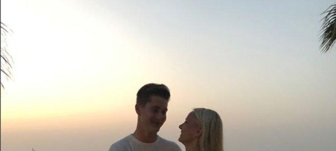 Martin Nečas se svojí novou přítelkyní - Sallou Virtanen z Finska