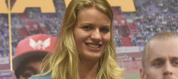 Dafne Schippersová na tiskové konferenci před Zlatou tretrou