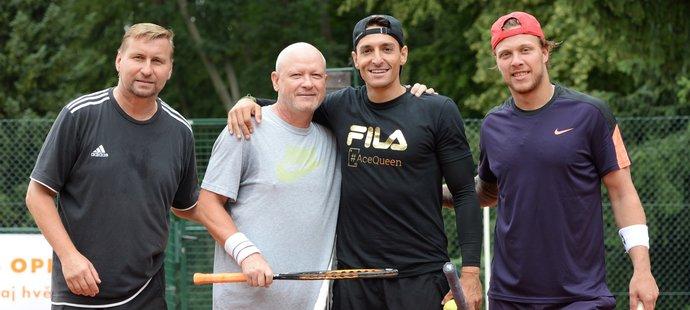 Horst Siegl s Ivanem Haškem svedli tenisovou bitvu s Michalem Hrdličkou a Davidem Pastrňákem
