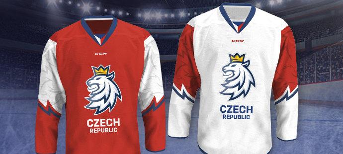 Takto vypadají dresy, které česká reprezentace oblékne od nadcházející sezony