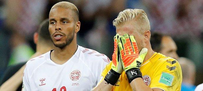 Kasper Schmeichel skrýval slzy. Chytil penaltu v prodloužení, dvě v rozstřelu, přesto to nestačilo