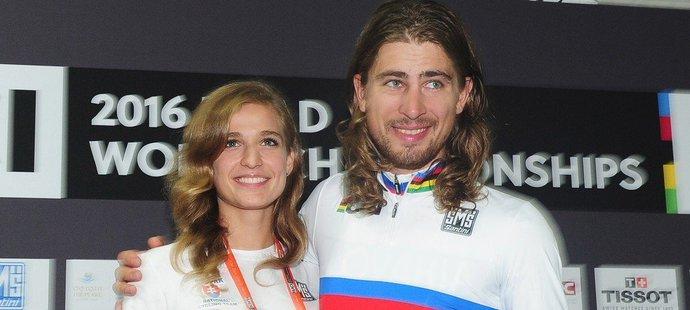 Společná cesta hvězdného slovenského cyklisty Petera Sagana a manželky Kataríny je u konce.