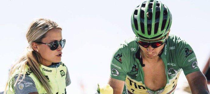 Sagan a Linda v době, kdy oba působili u stáje Tinkoff