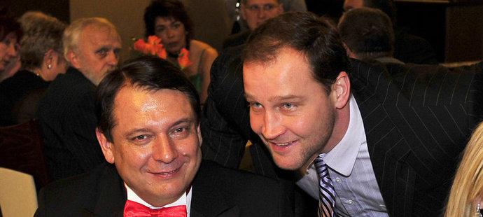 """Jiří Paroubek a jeho """"sportovní kůň"""" Jiří Šlégr"""