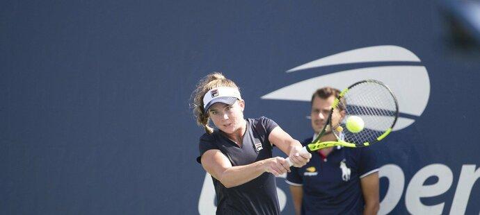 Elizabeth Mandlik na juniorce US Open v roce 2018