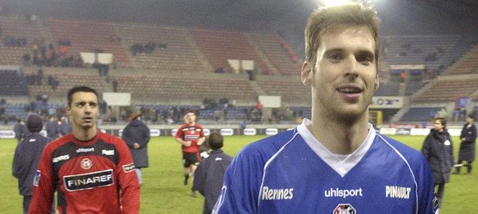 Petr Čech během svého prvního zahraničního angažmá. V Rennes na něj stále vzpomínají.