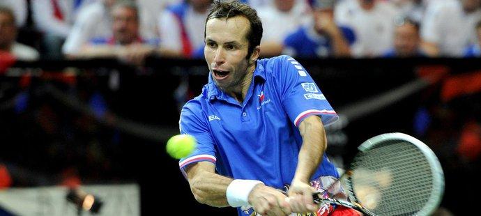 Zápasy Davis Cupu si Radek Štěpánek vždy náramně užíval