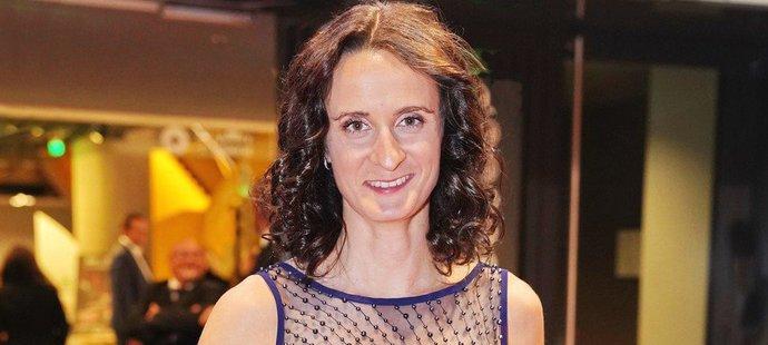Martina Sáblíková na oslavách sta let českého sportu ve Foru Karlín