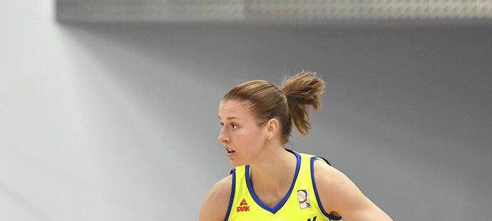 Kateřina Elhotová v dresu USK Praha