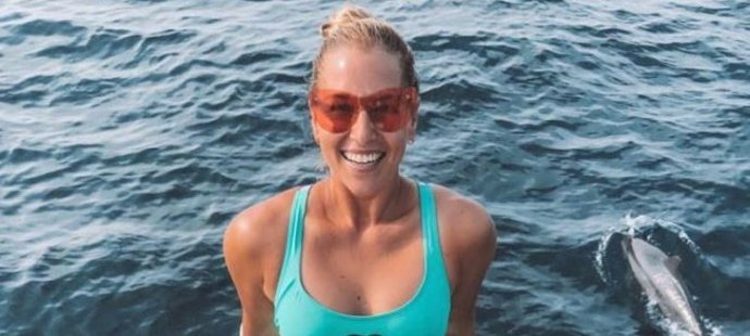 Šťastná tenistka Cibulková na Maledivách.