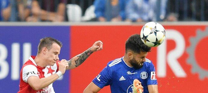 Olomoucký útočník Jakub Yunis v utkání proti Slavii
