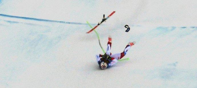 Švýcarský sjezdař Marc Gisin měl při závodě Světového poháru vážnou nehodu