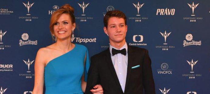 Gabriela Soukalová dorazila na vyhlášení ankety Sportovec roku s neslyšícím tenistou Jaroslavem Šmédkem