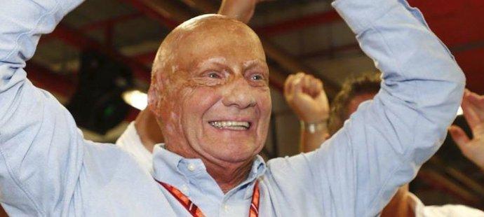 Niki Lauda, legenda formule 1 teď k úsměvům nemá moc důvodů