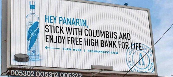 Destilérka High Bank motivuje Rusa Panarina, aby nepřestupoval z Columbusu
