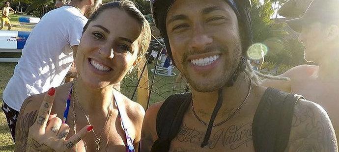Leticia Bufoni a její miláček Neymar