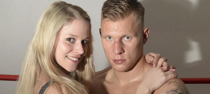 Boxer Zdeněk Chládek s manželkou Markétou