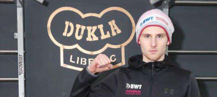 Skokan na lyžích Filip Sakala v tréninkovém středisku liberecké Dukly