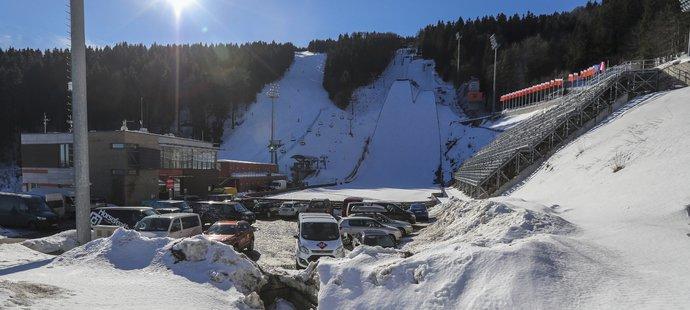 Lyžařský areál na libereckém Ještědu, kde se před deseti lety konalo MS v klasickém lyžování