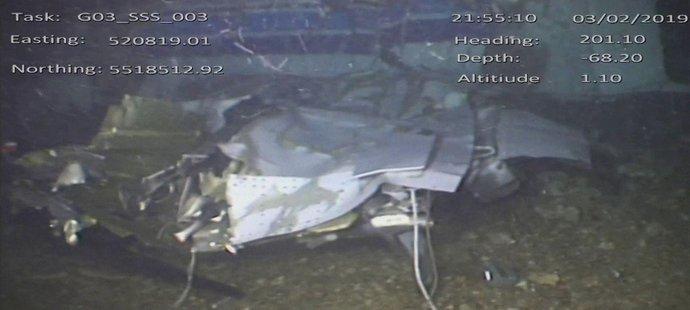 Vrak letadla, v němž zahynul fotbalista Emiliano Sala