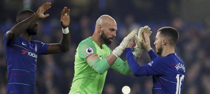 Willy Caballero se objevil v bráně Chelsea poprvé v současné sezoně Premier League