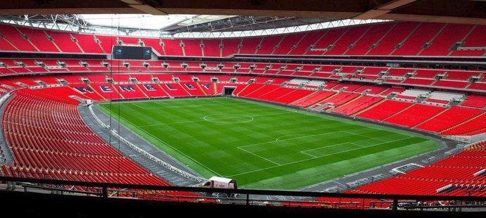 Stadion Wembley pojme až 90 tisíc fanoušků