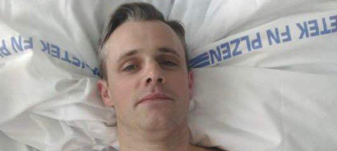 Žokej Josef Bartoš po operaci v plzeňské nemocnici